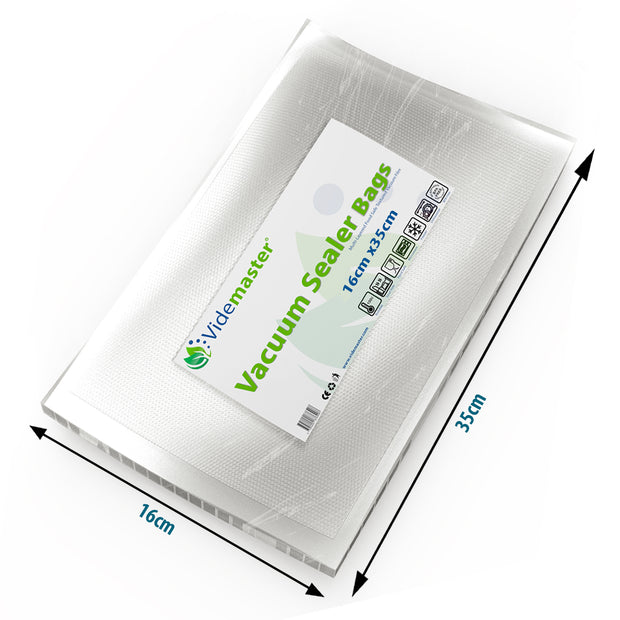 16 x 35 cm Vacuum Food Sealer Bags (100s)