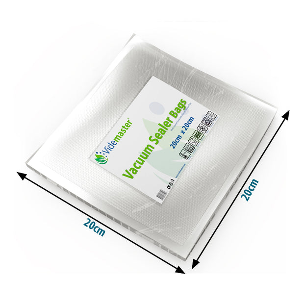 20 x 20 cm Vacuum Food Sealer Bags (100s)