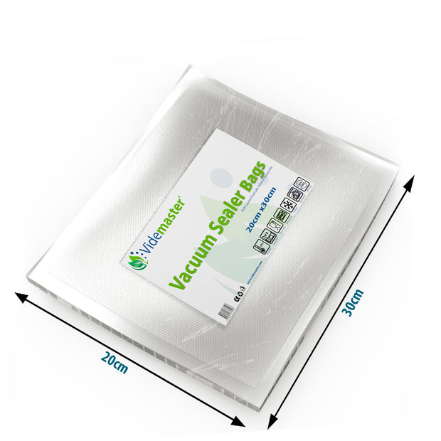 20 x 30 cm Vacuum Food Sealer Bags (100s)