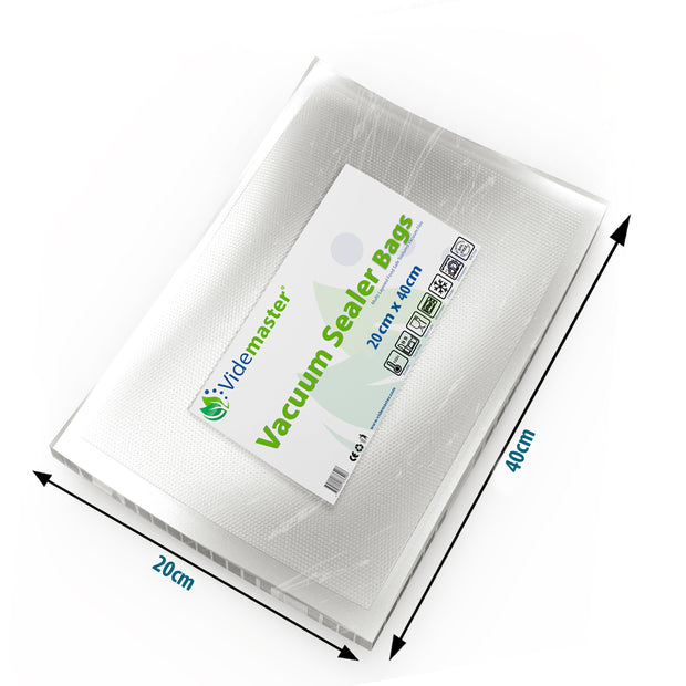 20 x 40 cm Vacuum Food Sealer Bags (100s)