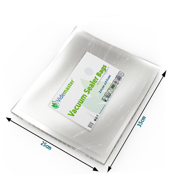 25 x 35 cm Vacuum Food Sealer Bags (100s)
