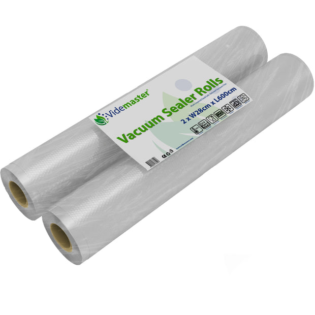 28cm x 6m Vacuum Sealer Rolls by Videmaster (Pack of 2)