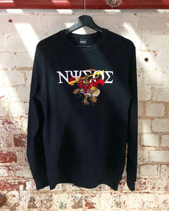Signature Embroidery Monkey King Crewneck