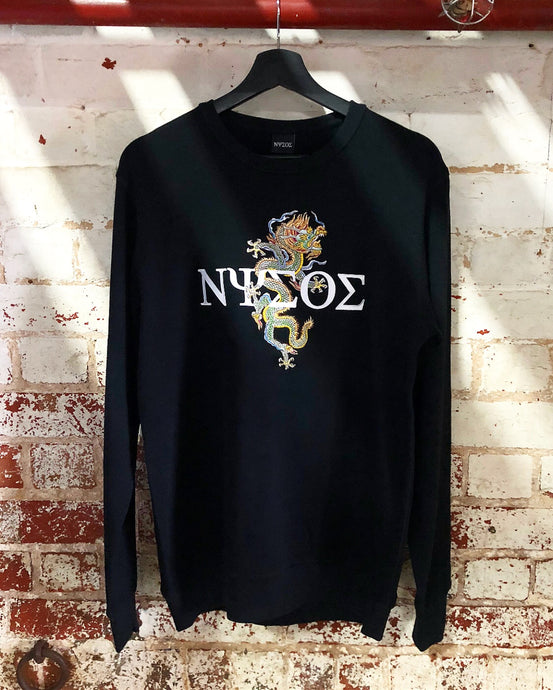 [ NOW AVAILABLE ] Signature Embroidery Dragon Crewneck