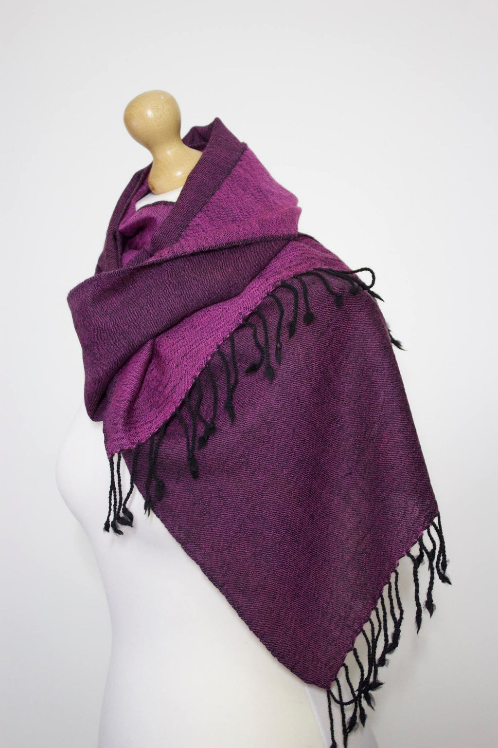 Wool Blend, Pink Berry Two Tone, Muffler