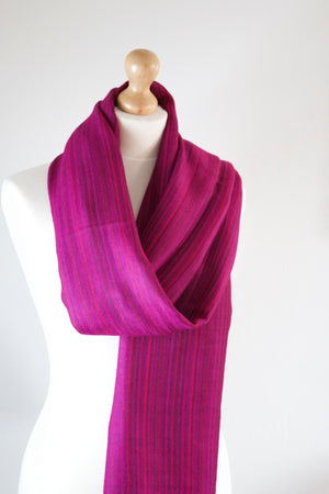 Pure 100% Wool, Pink Rose, Soft Pattern, Stole