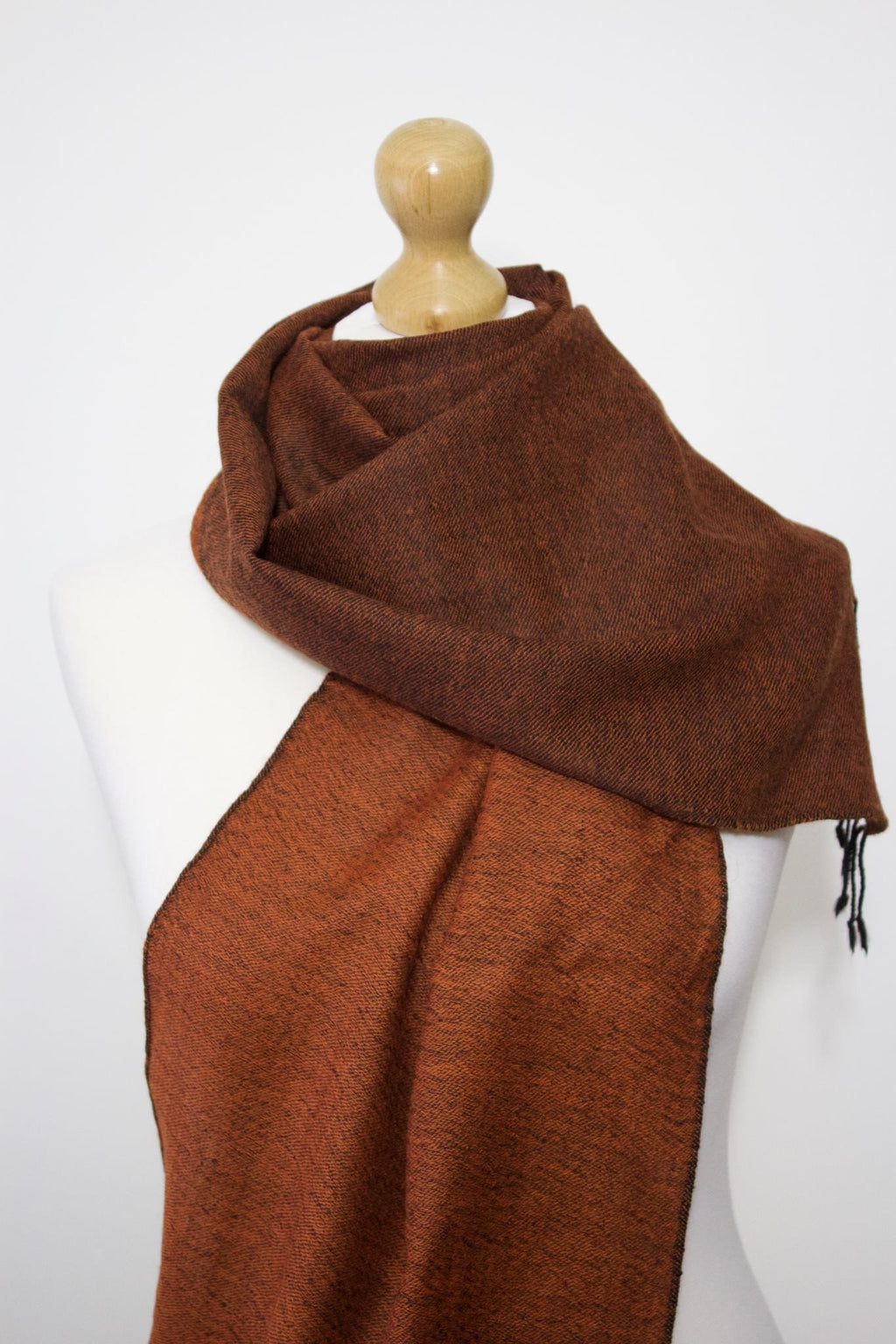 Wool Blend, Sunset Orange Two Tone, Muffler