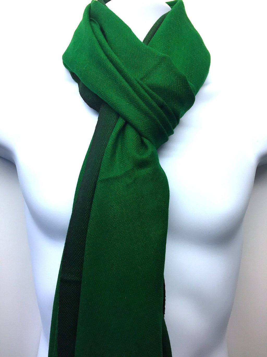 Pure 100% Wool, Bright Green, Stole