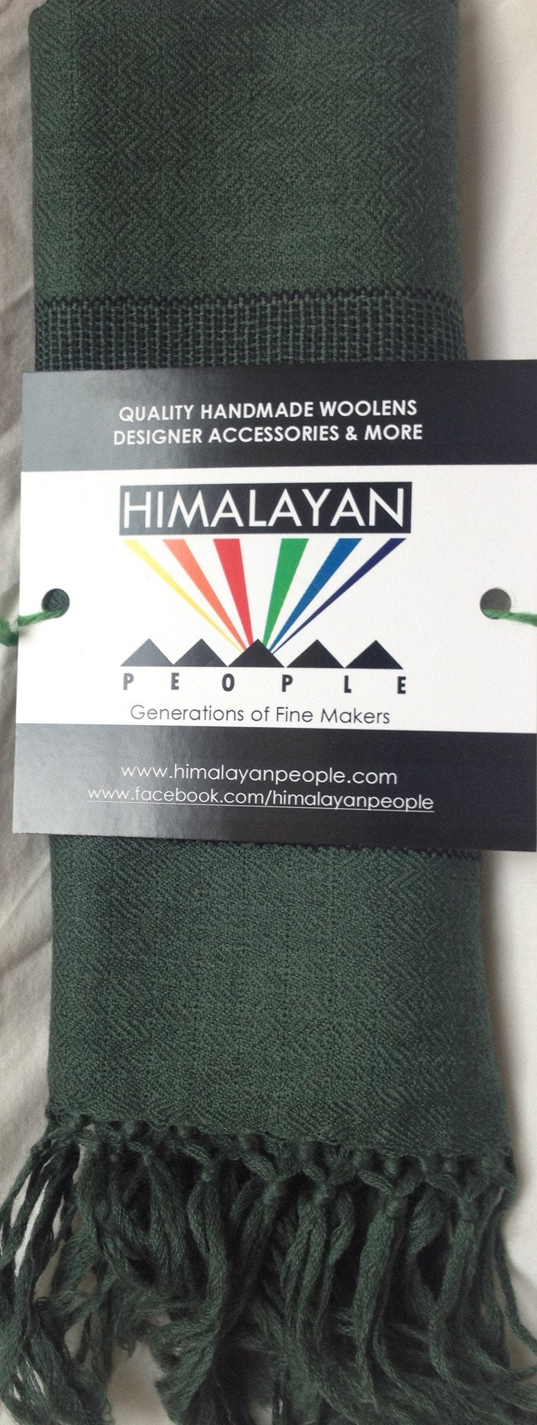 Pure 100% Wool, Sea-Green, Hand-loom made, Muffler