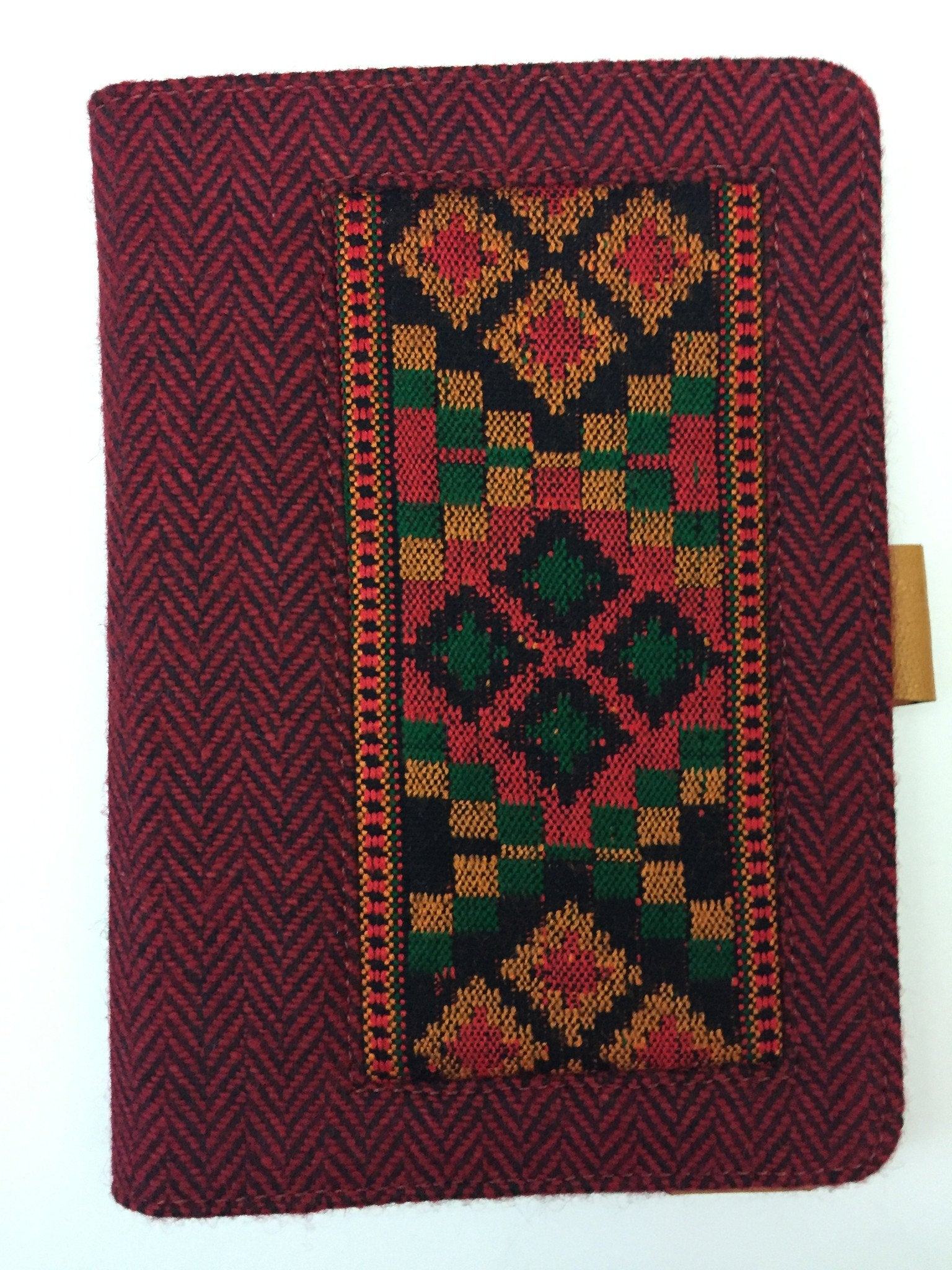 iPad mini cover Designer, stand and protection. Burgundy & Black with beautiful embroidered pattern. handmade. Hard shell.