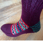 Woolen Socks, Burgundy & Christmas Colours