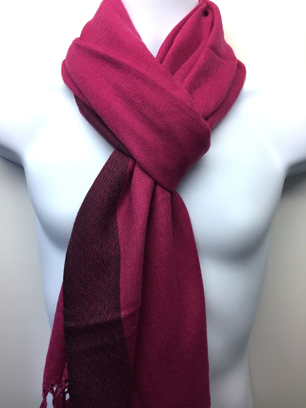Pure 100% Wool, Pink, Stole