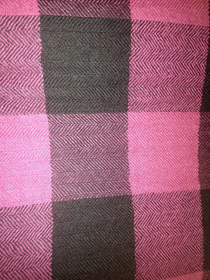 Pure 100% Wool, Pink Berry, Block Muffler