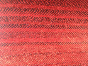 Pure 100% Wool, Red Carmine, Soft Pattern, Stole