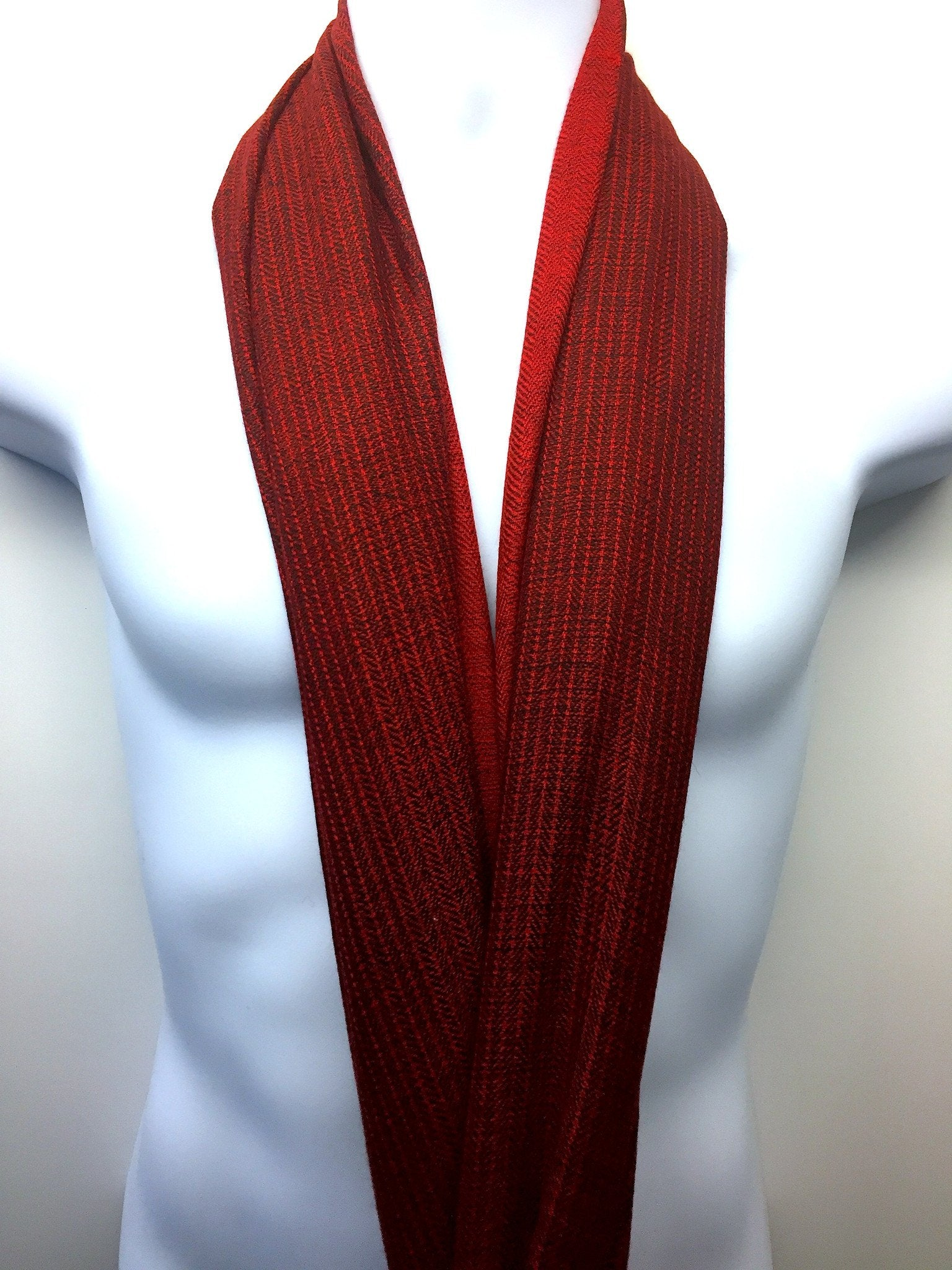 Pure 100% Wool, Burgundy, Soft Pattern Stole