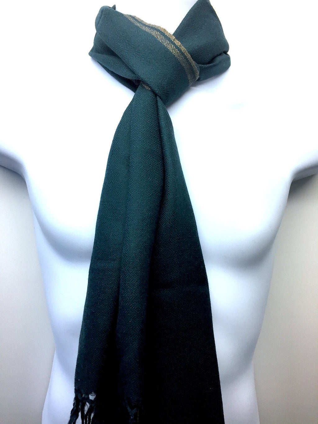 Pure 100% Wool, Sea Green Muffler