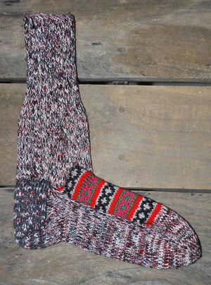 Woolen Socks, Multi Colour with White