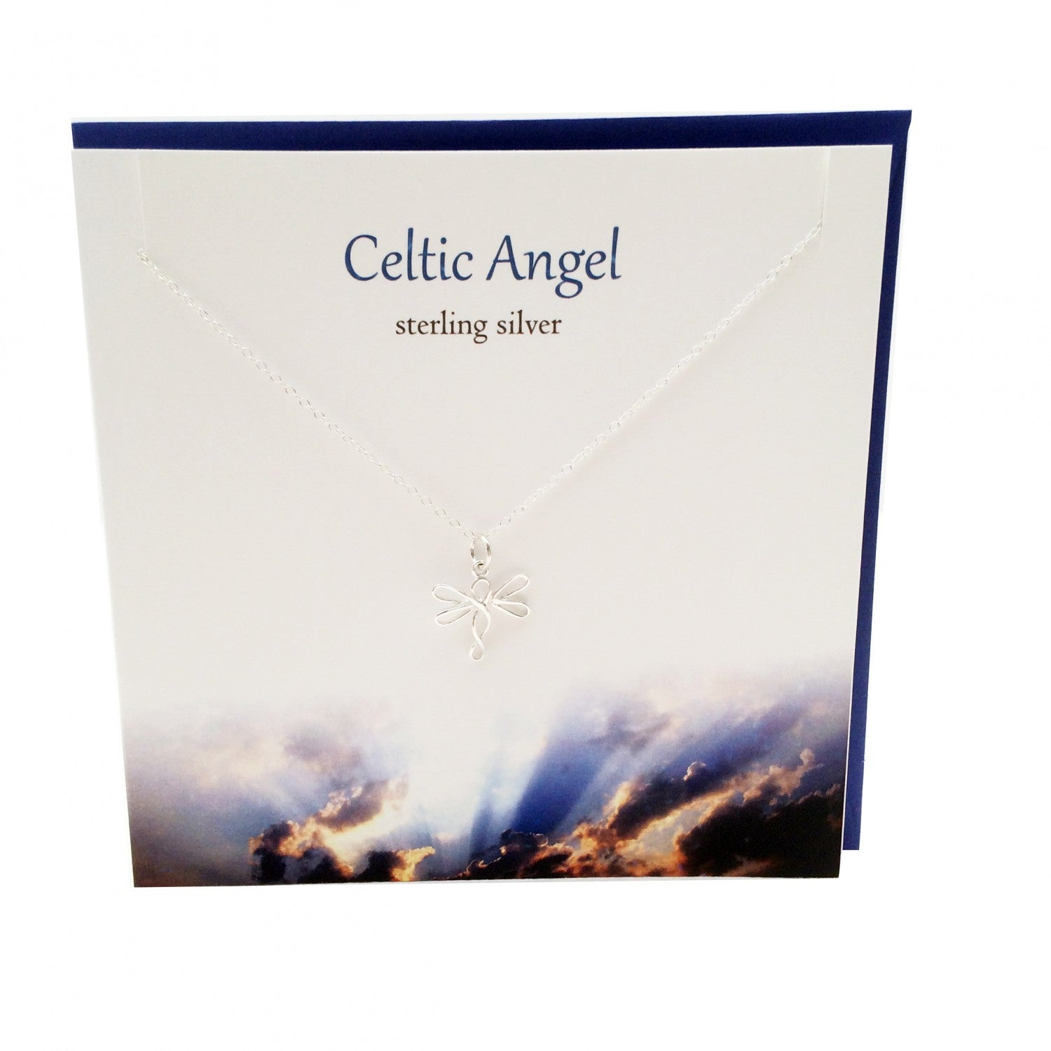 Celtic Angel Sterling Silver Pendant