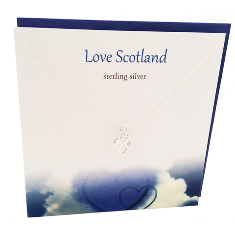 Love Scotland Sterling Silver Pendant