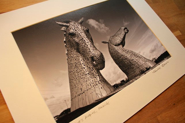 Kelpies Mounted Wall Print