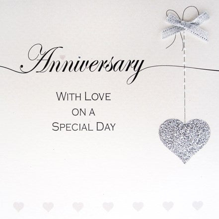Anniversary with Silver Heart