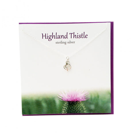 Highland Thistle Sterling Silver Pendant