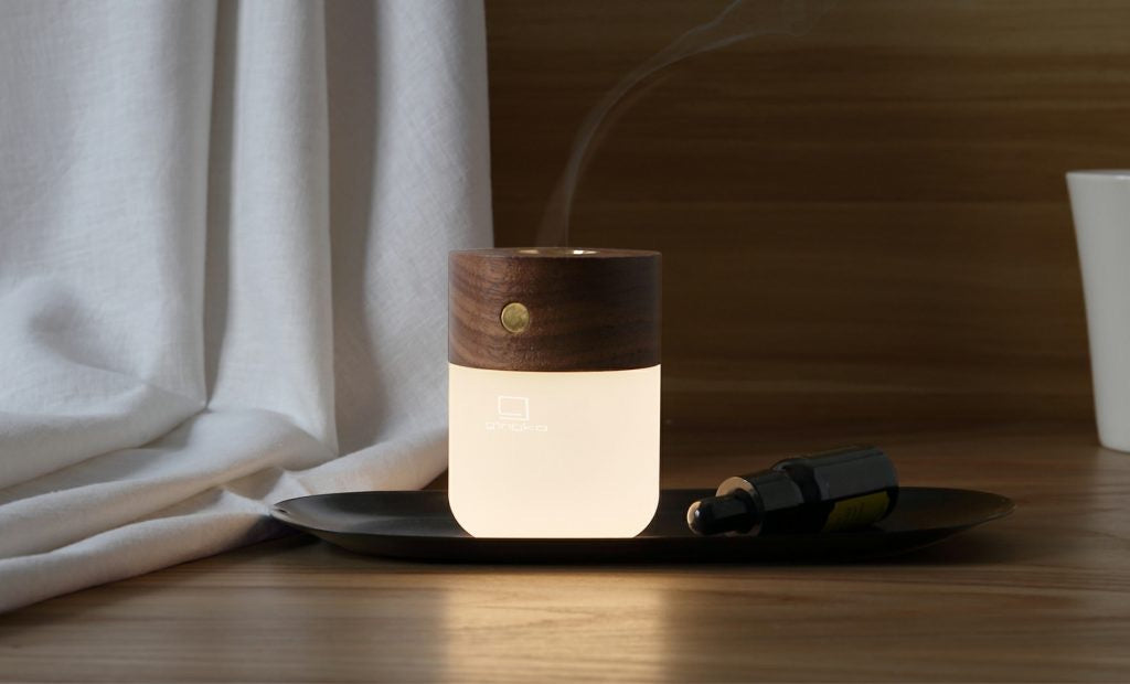Smart Diffuser Lamp- Walnut