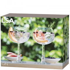 LSA Gin Balloon Glass Clear x2