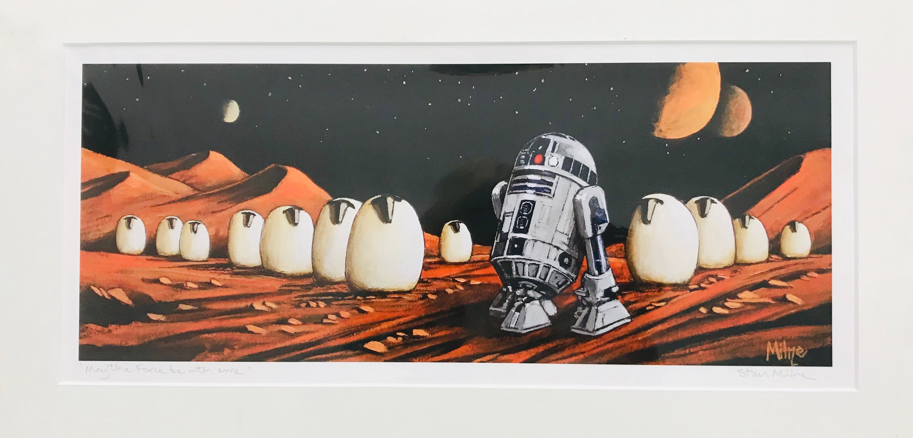 """May the Fourth be with Ewe"" Mounted Wall Print"