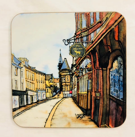 """Bull Inn, New St., Paisley"" Coaster"