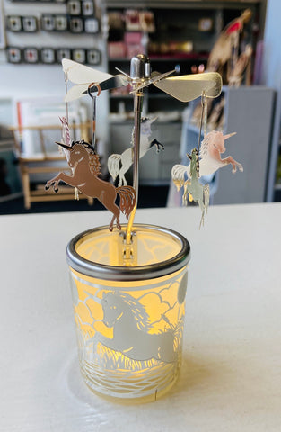 Rotating Tea Light Holder- Unicorn