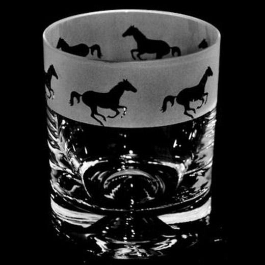 Whisky Glass- Horse Racing