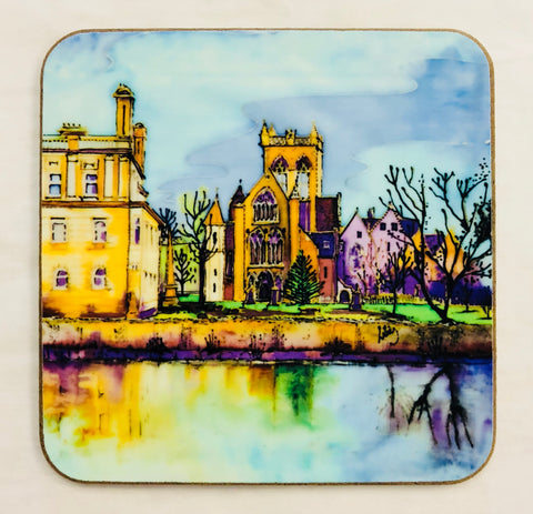 """Paisley Abbey Reflections"" Coaster"
