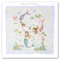 Little Mermaids Birthday Card