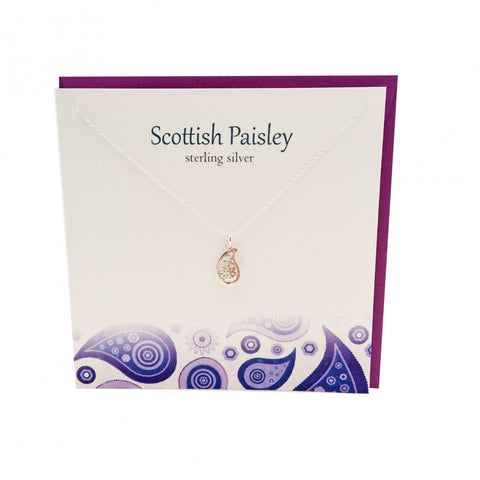 Paisley Pattern Pendant with Card