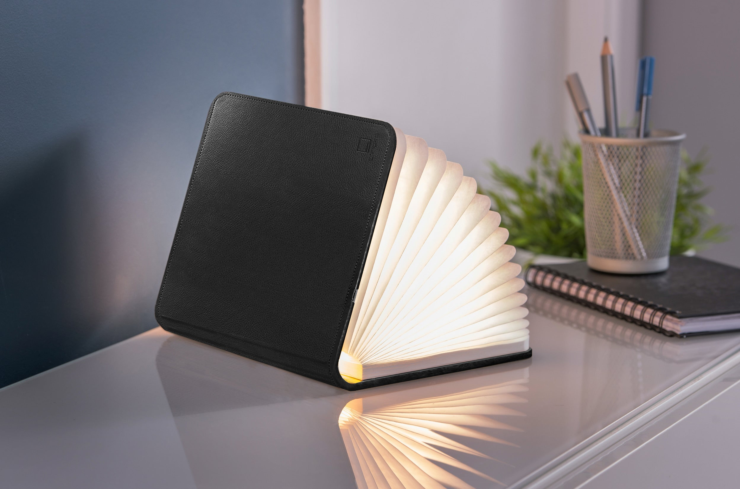 Mini Smart Book Light - Black Leather