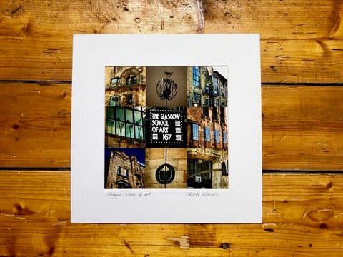 Glasgow School of Art Mounted Print