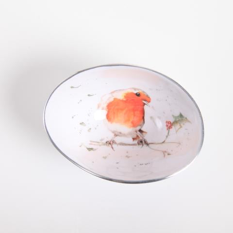 Robin & Holy Small Oval Bowl