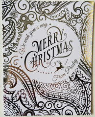 Paisley Christmas Card-6 In Box