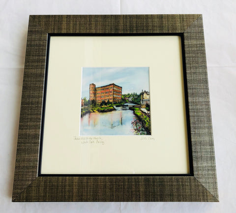 """Anchor Mill at the Hamils, White Cart, Paisley"" Print Small"