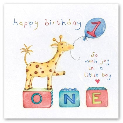 Happy Birthday Little Boy 1 Card