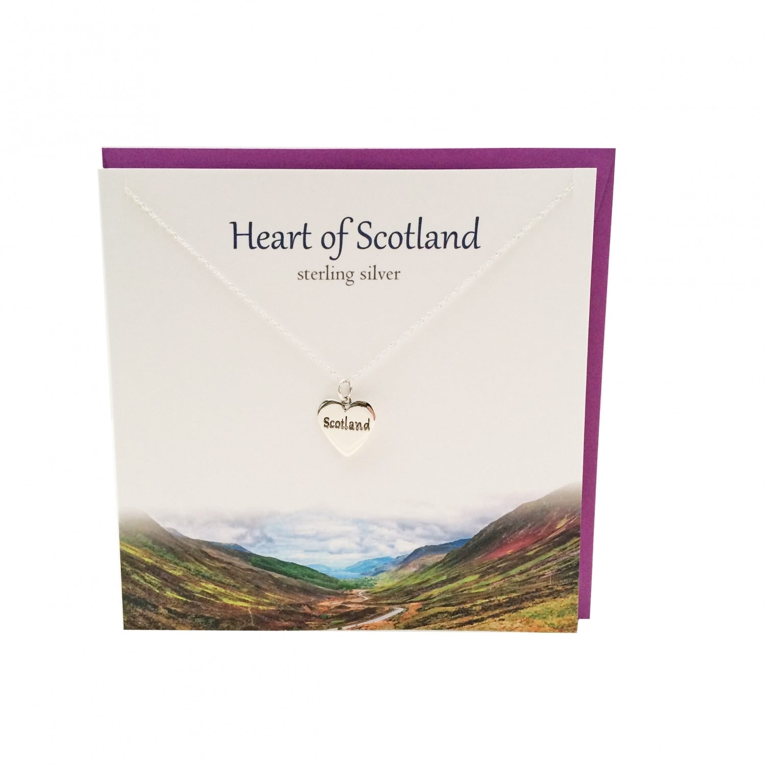 Heart of Scotland Sterling Silver Pendant