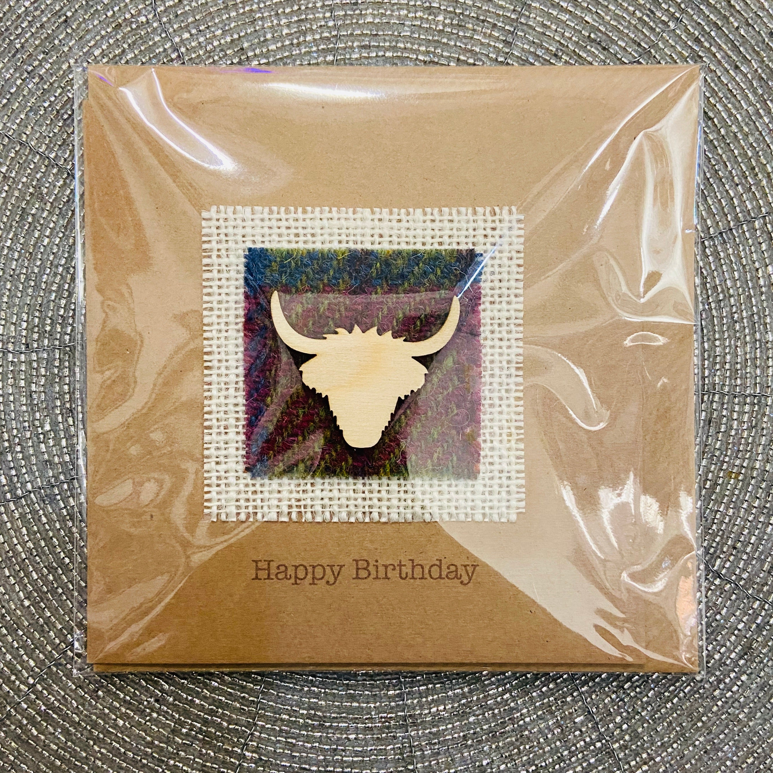 Tartan Highland Cow Card