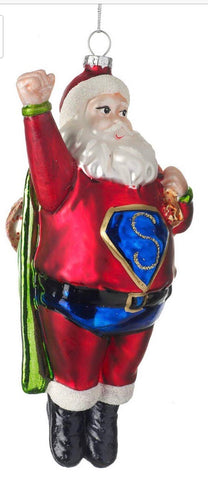 Super Santa Christmas Bauble