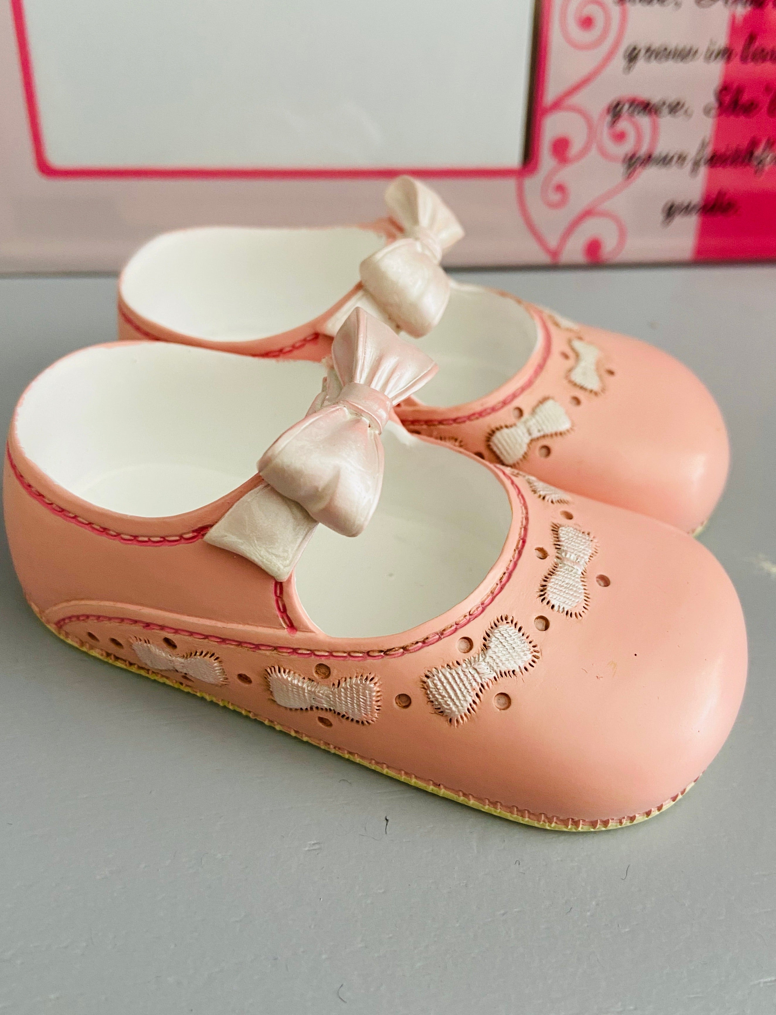 Ornate Pink Baby Shoes