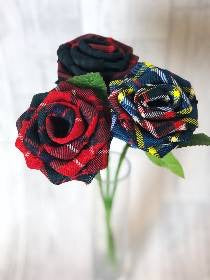 Individual Tartan Rose- multi colour