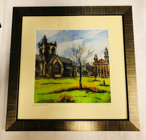 """Paisley Abbey and Town Hall"" Print Large"