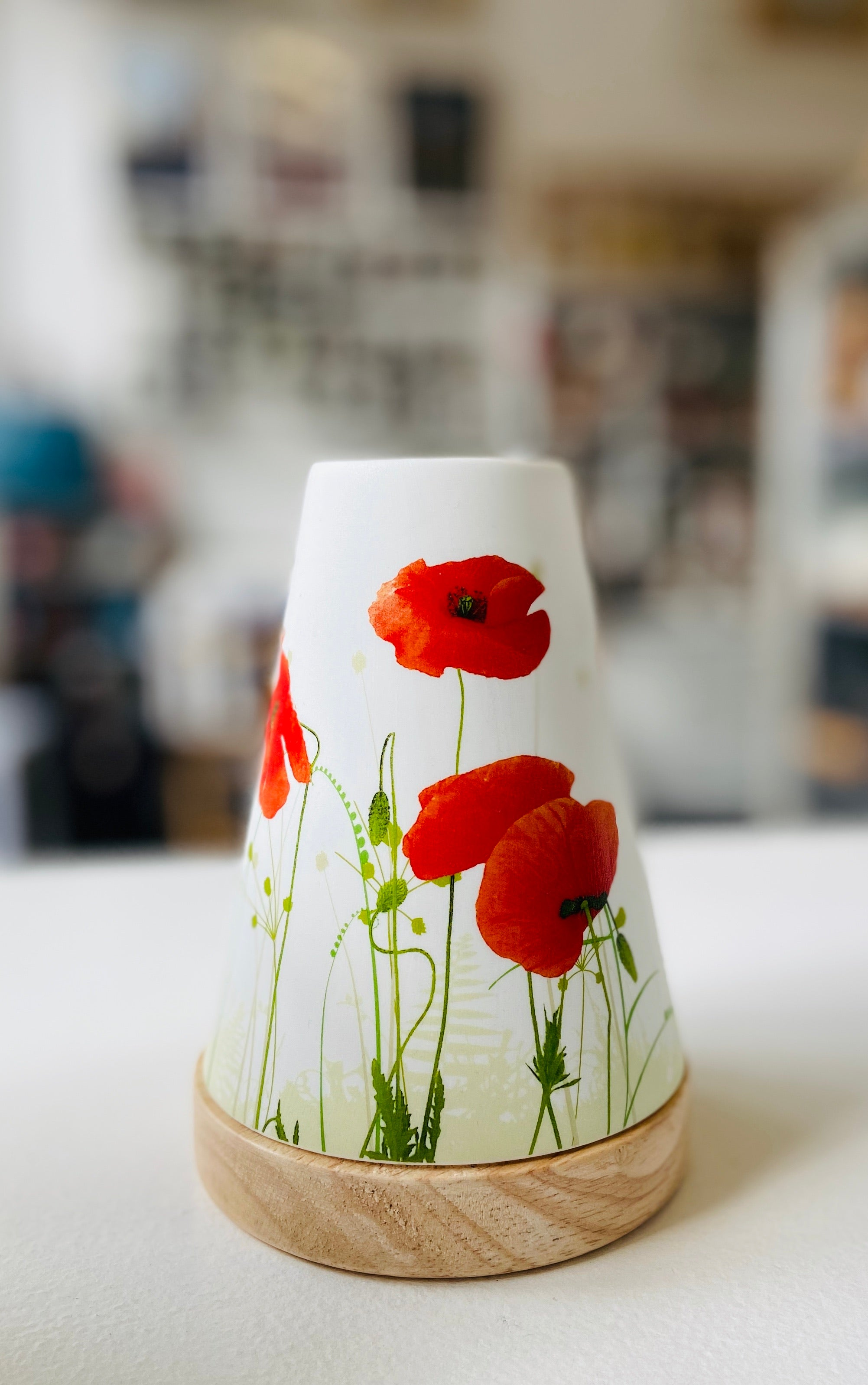 Vintage Poppy Glowing Candle Holder