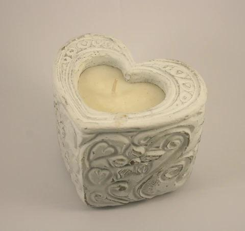 Natural Heart Rose Scented Candle