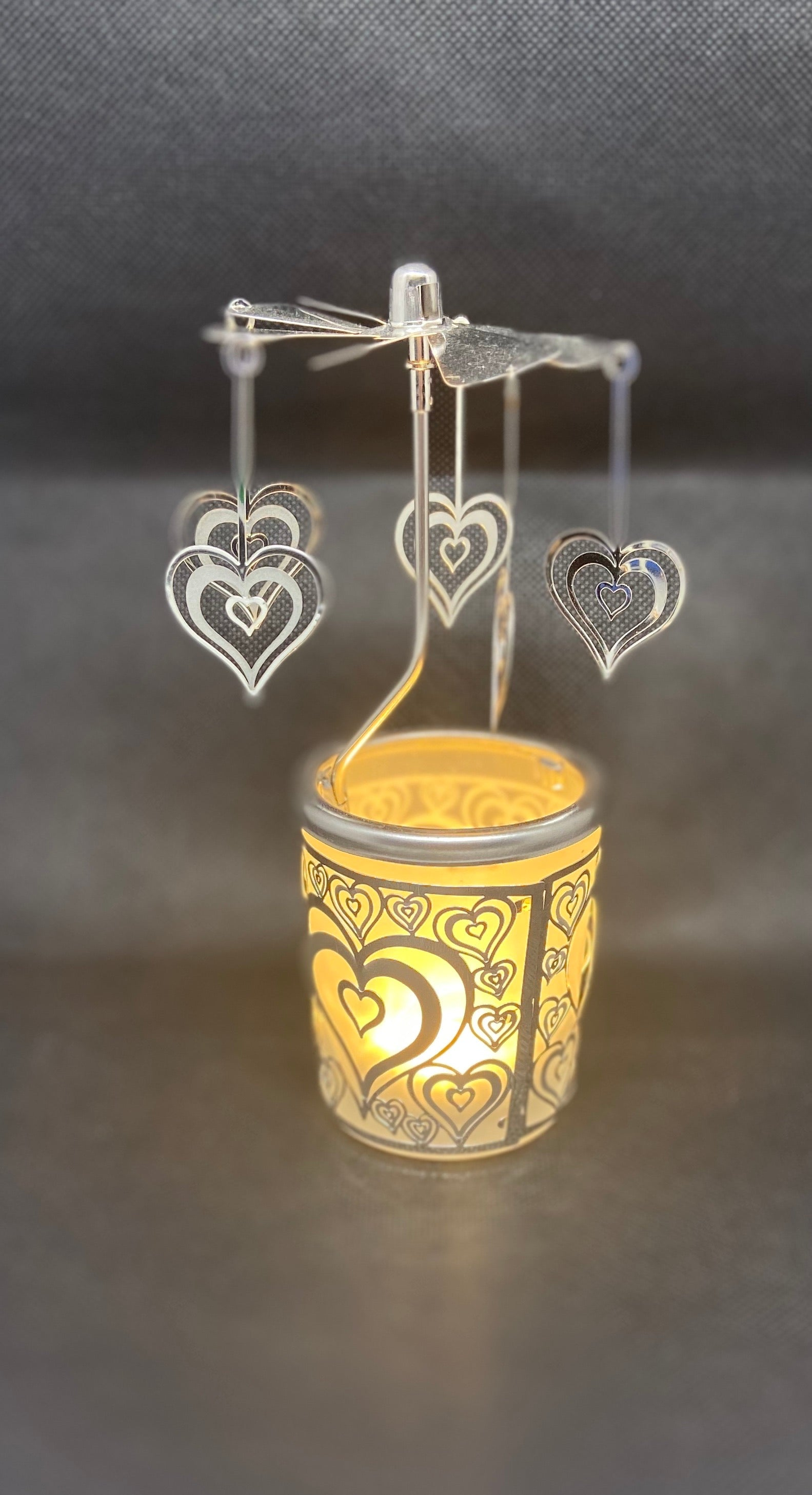 Rotating Tea Light Holder- Heart